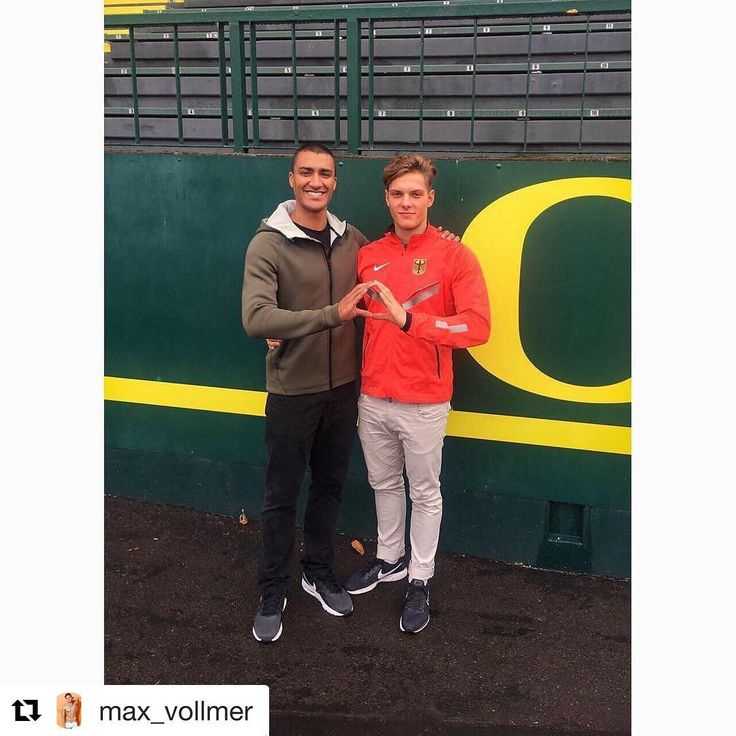 #Repost @max_vollmer (@get_repost)  I am happy to announce that I officially signed a contract with the University of Oregon. I am honored to join the track and field family of @oregontf  Lets achieve something big in the future @_sethhenson @run4ducks  GO DUCKS!! It was also a blessing to meet the world record holder in the decathlon - my inspiration  @weareeaton  #universityoforegon #goducks #trackandfield #sports #athletic #future #decathlon #dream #goal #track #lifestyle #inspiration…