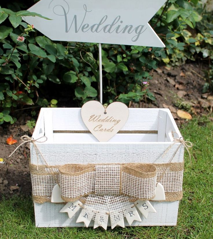 Rustic Vintage Style Wooden Wedding Crate Wedding Card Post Box ~ Shabby Chic