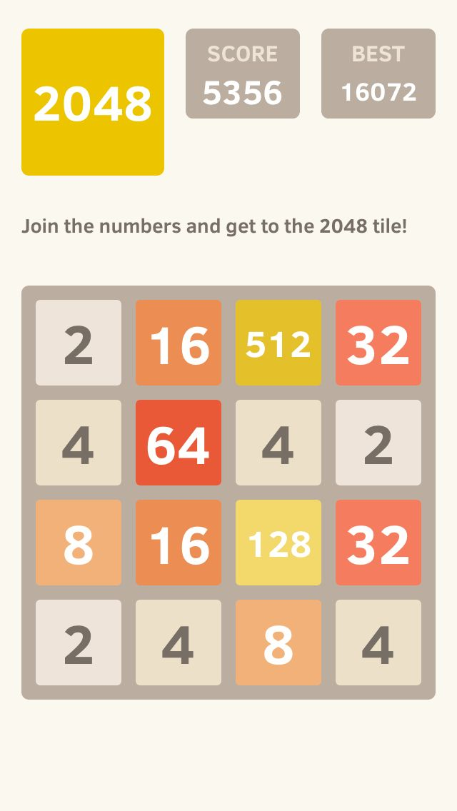 I Scored 5356 Points At 2048 A Game Where You Join Numbers To Score High 2048 Game Https Itunes Apple Com App 2048 Id840919914 2048 Game Games My Score