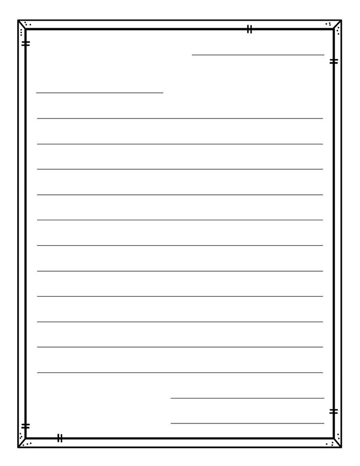 Freebie Letter Template Publishing Paper Top Tpt