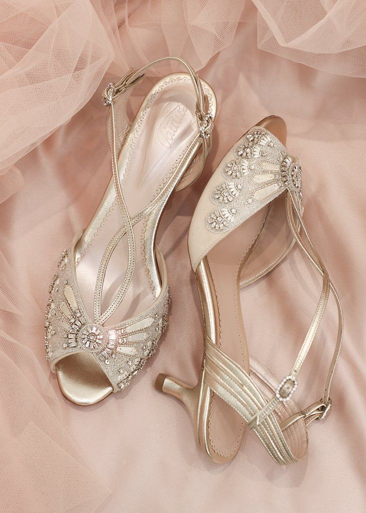 d1b696e26e7 Ella Gold | Pretty In Pink | Bridal shoes, Gold bridal shoes ...