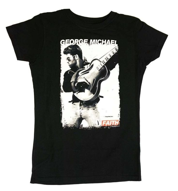 George Michael Faith Photo Juniors Tee #BasicTee