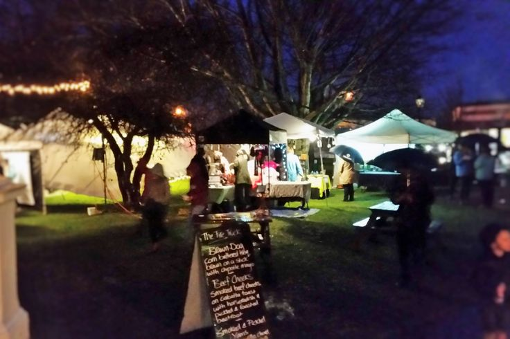 Midwinter Affair night market in the Martinborough Square