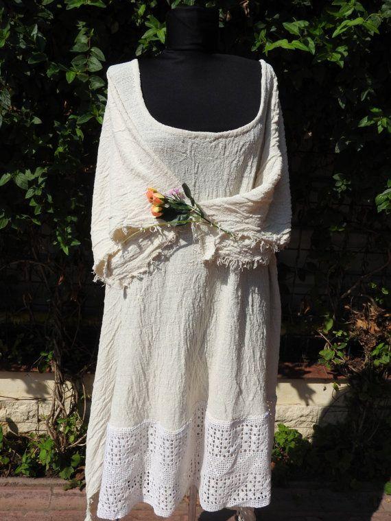 Extralarge Bohemian DressOrganic Women Dress by JadAngel on Etsy
