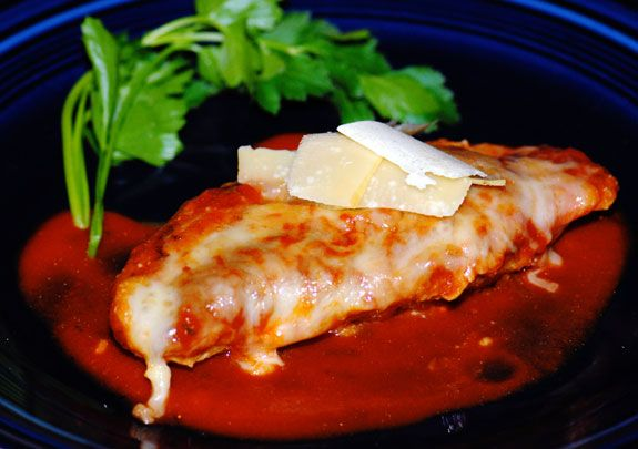 Chicken Parmesan | Omit the cheese.