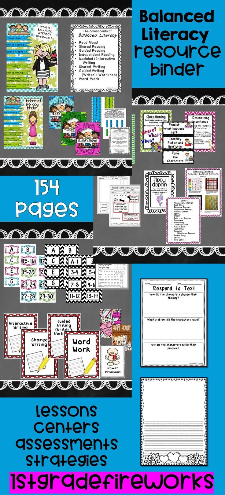 All of the pieces needed to create a BALANCED LITERACY classroom are included. Descriptors, samples, pictures, and resources are included.Printables in color & B/W.  Balanced Literacy consists of: Read Alouds Shared Reading Guided Reading Independent Reading Modeled / Interactive Writing Shared Writing Guided Writing (Writer's Workshop) Word Work https://www.teacherspayteachers.com/Product/What-is-a-BALANCED-LITERACY-classroom-1776415