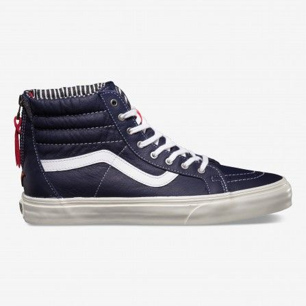 Vans Varsity Stripe Eclipse Sk8-Hi Zip CA Shoes