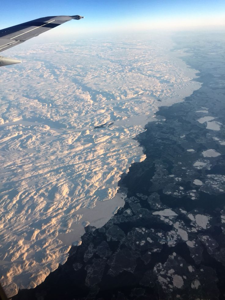 Flying from Ottawa to Iqaluit in December 2014.