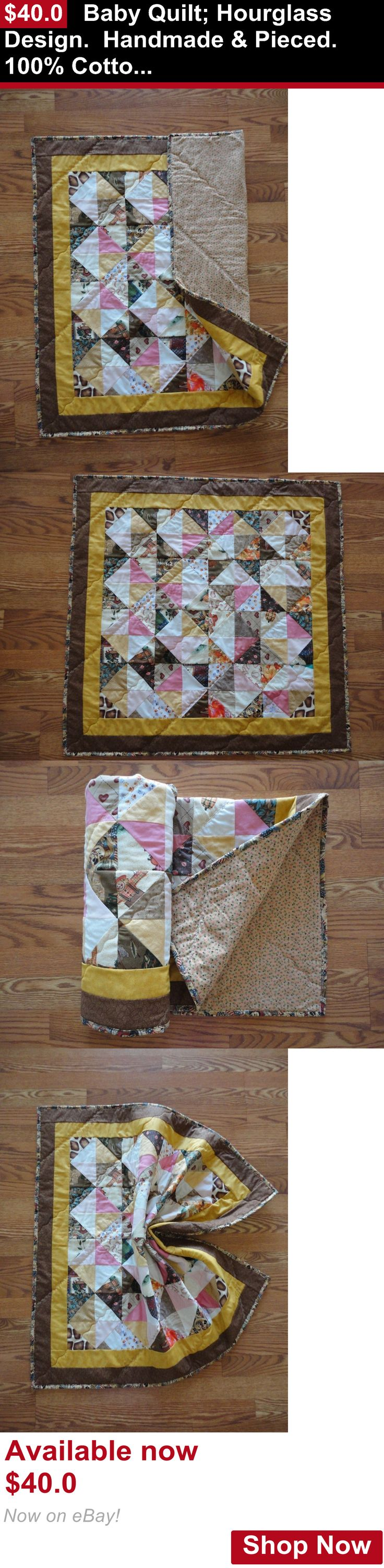 Quilts And Coverlets: Baby Quilt: Hourglass Design. Handmade And Pieced. 100% Cotton. BUY IT NOW ONLY: $40.0