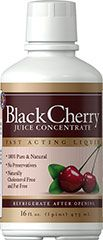 Black Cherry Juice Concentrate <ul><li>Fast Acting Liquid</li><li>100% Pure & Natural</li><li>No Preservatives</li><li>Naturally Cholesterol Free and Fat Free</li></ul><p>Black Cherry Concentrate, pure concentrate from black cherries, is ideal as a delicious natural topping for yogurt, ice cream, pastries, tropical smoothies, fruit cocktails, etc.  Mixes with water, seltzer or juice.  100% pure and natural, with no added s