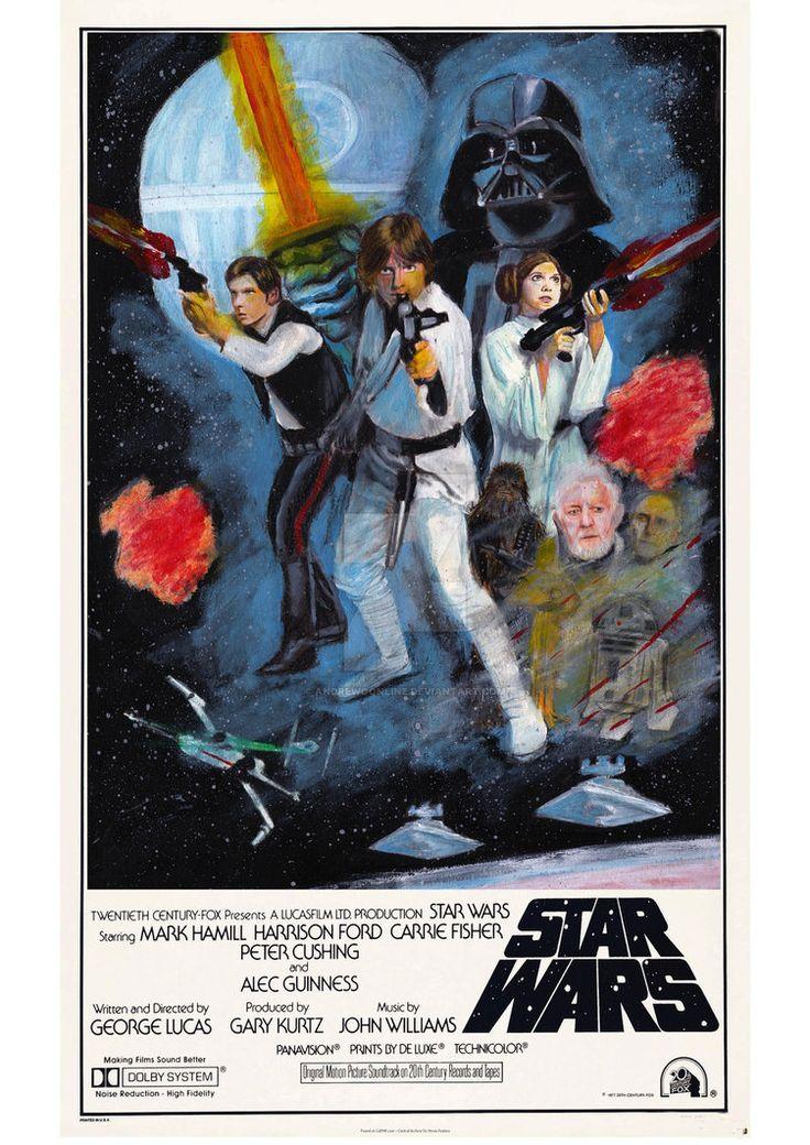 Vintage 1977 Star Wars poster - My version by andrewoonline on DeviantArt