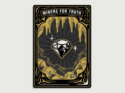 """Hoodzpah """"Miners for Truth"""" Card Illustration - Graphic Design"""