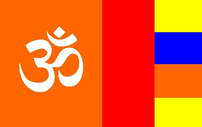Hindu Buddheic Flag Or Flag Of Mixed Hindu And Buddhist Marriages Flag Buddhist Marriage