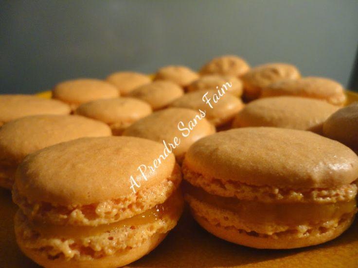 A Prendre Sans Faim: Macarons à la mangue http://www.aprendresansfaim.com/2014/09/macarons-la-mangue.html