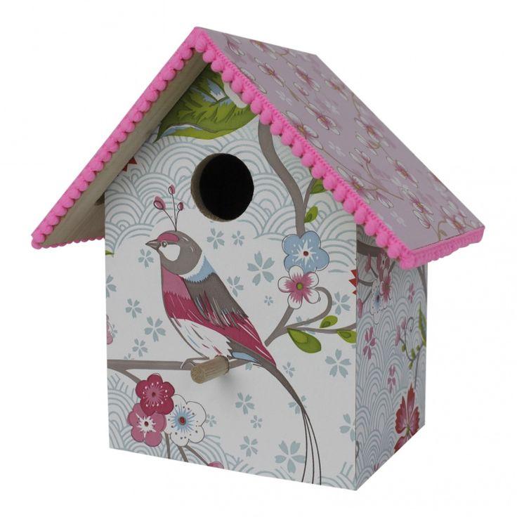 Vogelhuis pip studio birds in paradise wit ook leverbaar met lampje en/ of muziekdoosje verkrijgbaar bij www.roozje.nl