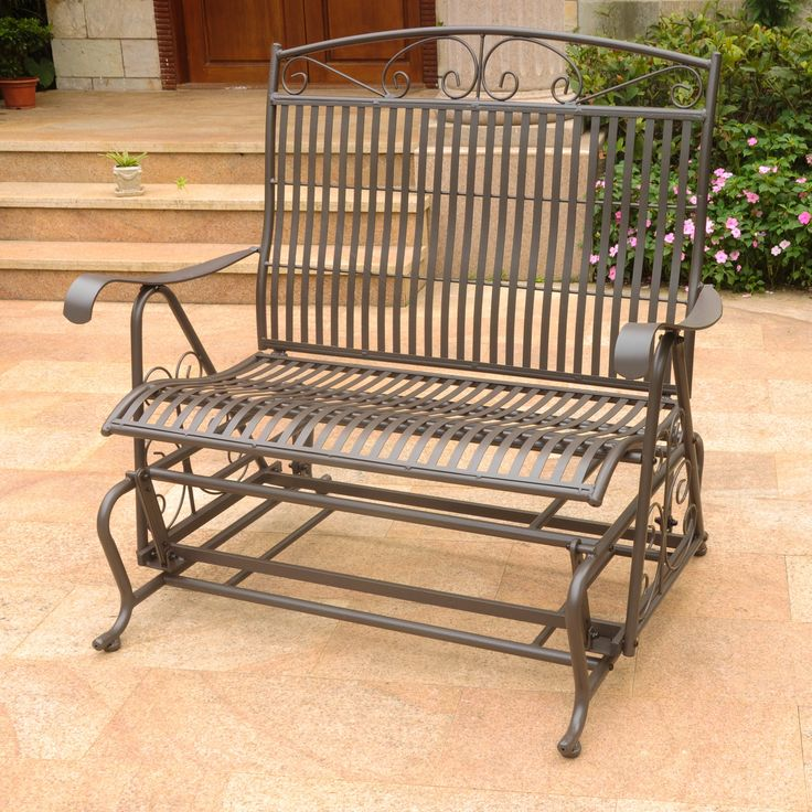 Tropico Iron Double Patio Glider Bench