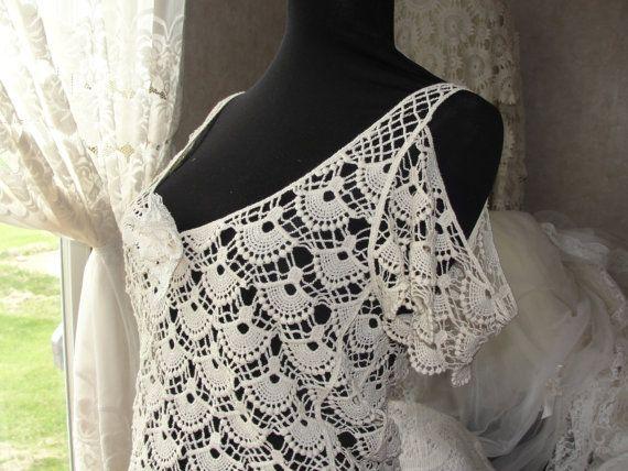 Lace top Gypsy Boho bohemian crochet lace top by SummersBreeze