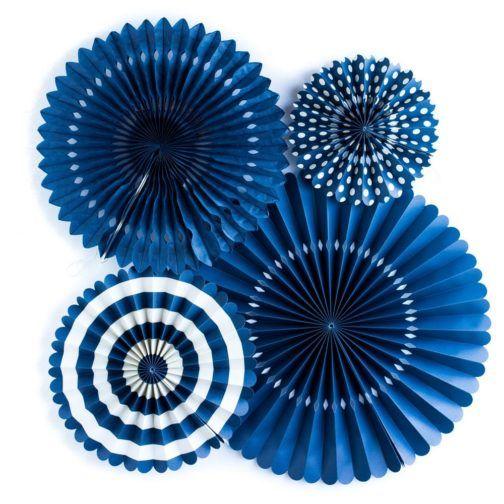 Kit Abanicos Azul Marinero  #OxfordFans #BlueFans #OxfordParty #ThematicParty