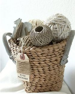 basket with twine