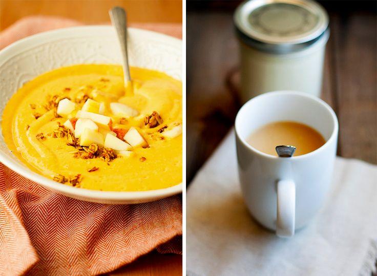 Breakfast, Lunch, Dinner Pumpkin Recipes from Local Sacramento Bloggers // Well Floured Pumpkin Apple Smoothie and Pumpkin Spice Coffee Creamer // Lyon Real Estate Blog