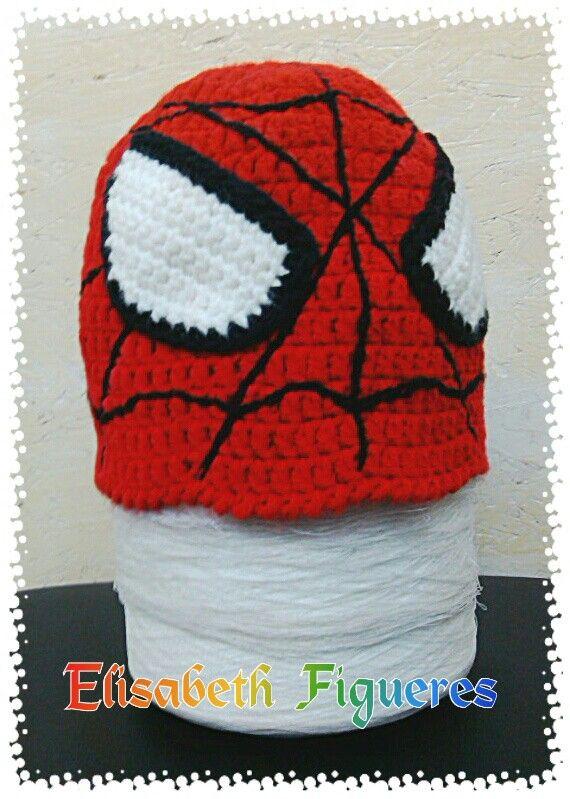 2%2B%25282%2529 gorras crochet hombre arana