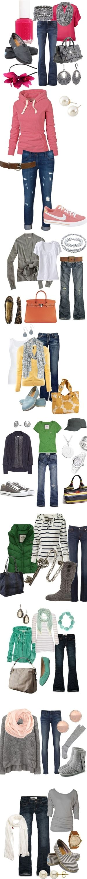 I love all these fun ideas for Clothes Combos