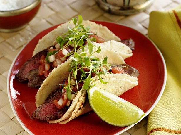 Carne Asada Tacos Recipe : Aarón Sánchez : Food Network - FoodNetwork.com