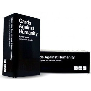 Cards Against Humanity is a party game for horrible people. Unlike most of the party games you've played before, Cards Against Humanity is as despicable and awkward as you and your friends.     The game is simple. Each round, one player asks a question from a Black Card, and everyone else answers with their funniest White Card.