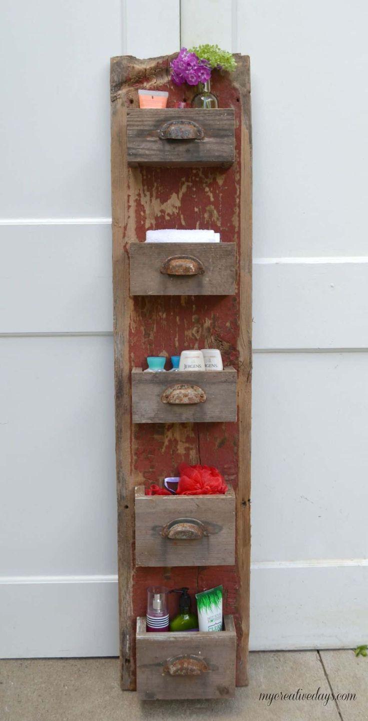 42 super kreative DIY Badezimmer-Speicher-Projekte, zum Ihres Badezimmers auf einem Budget zu organisieren