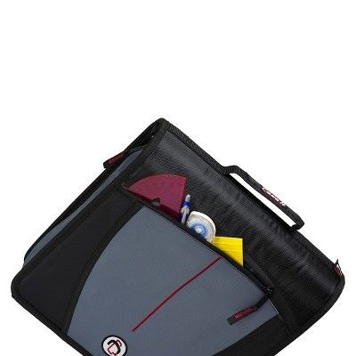 Case•it 3 Zipper 3 Ring Binder with Internal Pockets Purple