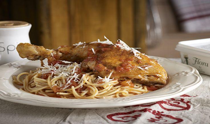 Συνταγή για νοστιμότατο Κοτόπουλο κοκκινιστό με μακαρόνια!