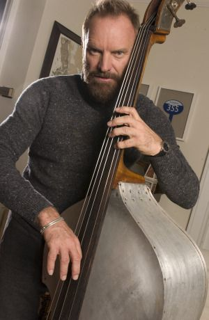 Is that Capt. Haddock? No, it's Sting! but how I wish I was that cello!