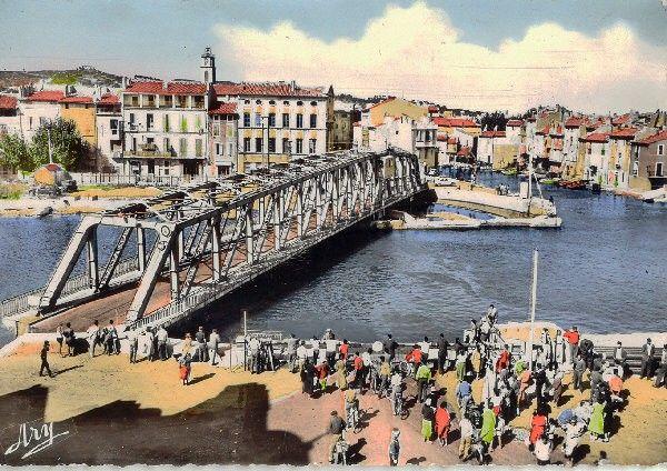 ancien pont tournant. image colorisé