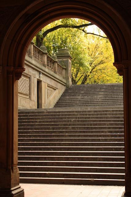 Central Park View - New York City - Steps leading to the Bethesda Fountain