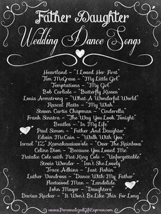 Top 20 Father Daughter Wedding Dance Songs I'm gonna have I Loved Her First...I think...