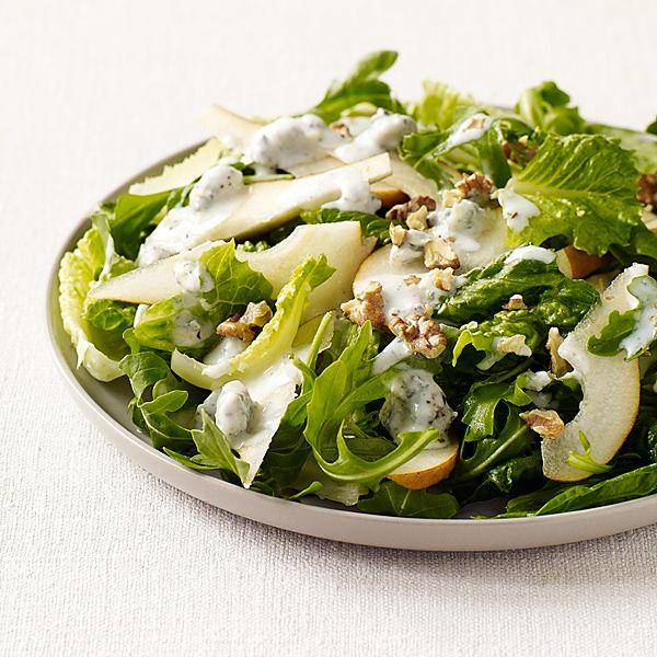 WeightWatchers.fr : recette Weight Watchers - Salade verte à la poire et au fromage bleu