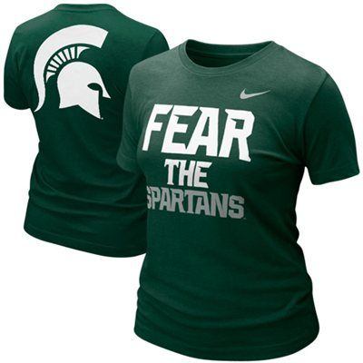 Nike Michigan State Spartans Ladies Fear the Spartans T-Shirt - Green