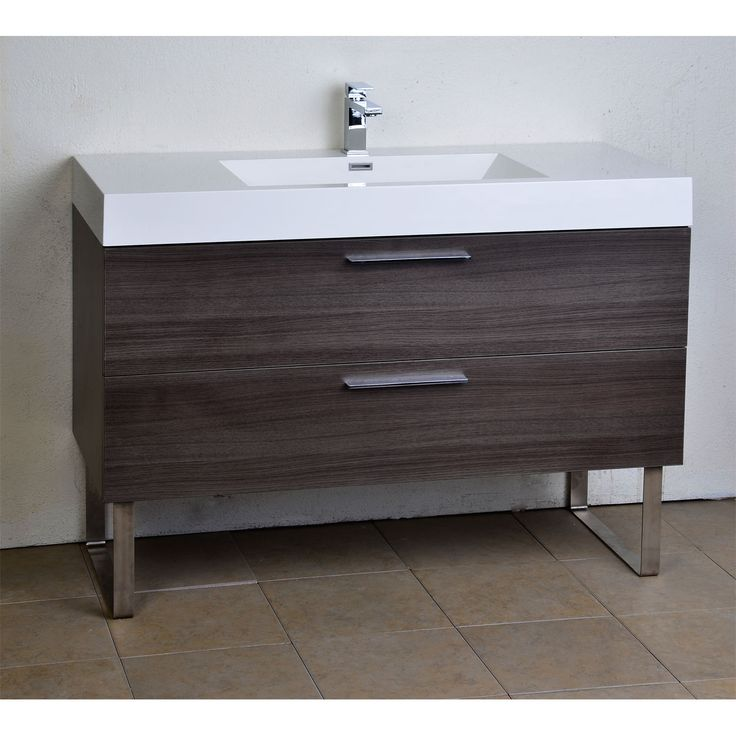 47 Quot Contemporary Bathroom Vanity Grey Oak Optional Legs Rs