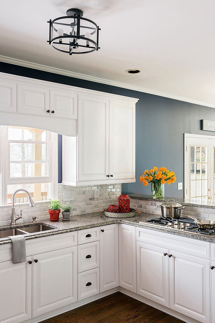 Navy yellow bedrooms house paint interior and yellow kitchen walls - My Kitchen Refacing You Won T Believe The Difference Blue Walls Kitchenkitchen Paint Colorshome