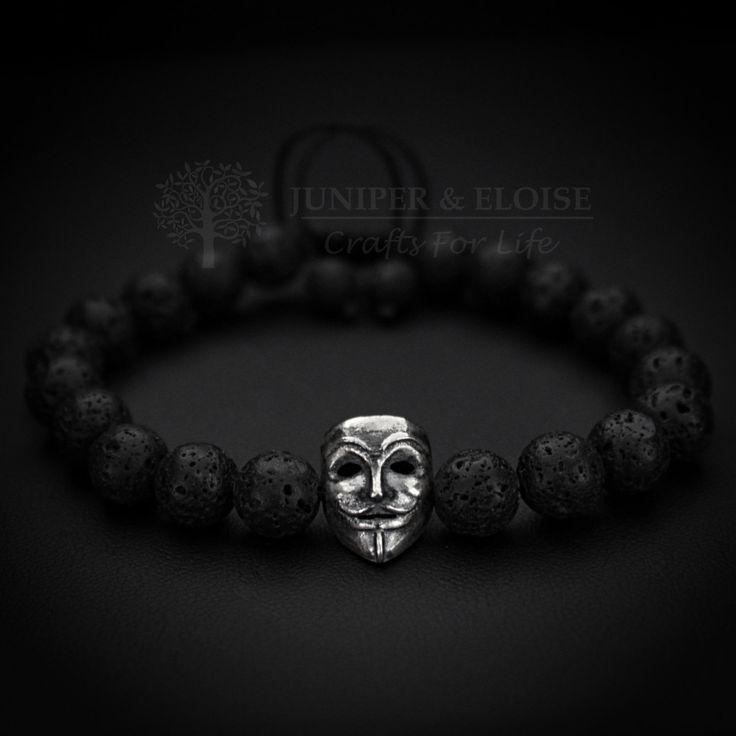 Vendetta Bracelet, Mens Bracelet, Womens Bracelet,Lava Bracelet, V For Vendetta, Bracelet For Men, Lion Bracelet , Gift Bracelet by JUNIPERANDELOISE on Etsy