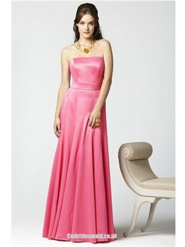 2013 sweet bridesmaid dresses the Sleeveless HotPink Hourglass Floor-Length Uk Bridesmaid Dress fashionweddingdress