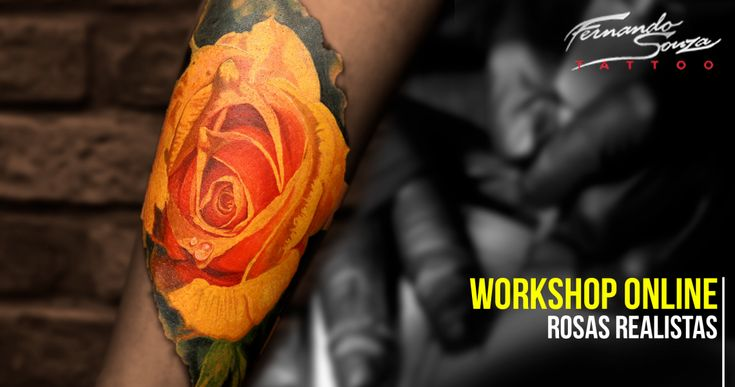 Conheça o Workshop online de tatuagens de Rosas realistas que vai aumentar suas habilidades na tatuagem