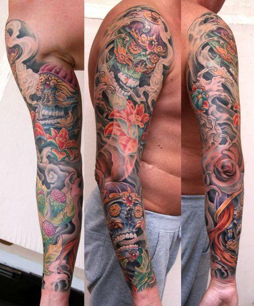27 Half Sleeve Tattoo For Men Designs Ideas: 27 Best Hidden Skull Tattoos For Men Sleeves Images On