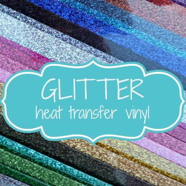 My Vinyl Direct - Glitter Heat Transfer Vinyl, $5.98 (http://www.myvinyldirect.com/glitter-heat-transfer-vinyl/)