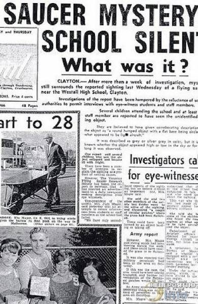 Приближается пятидесятилетие знаменитого Уэстолского появления НЛО в Австралии