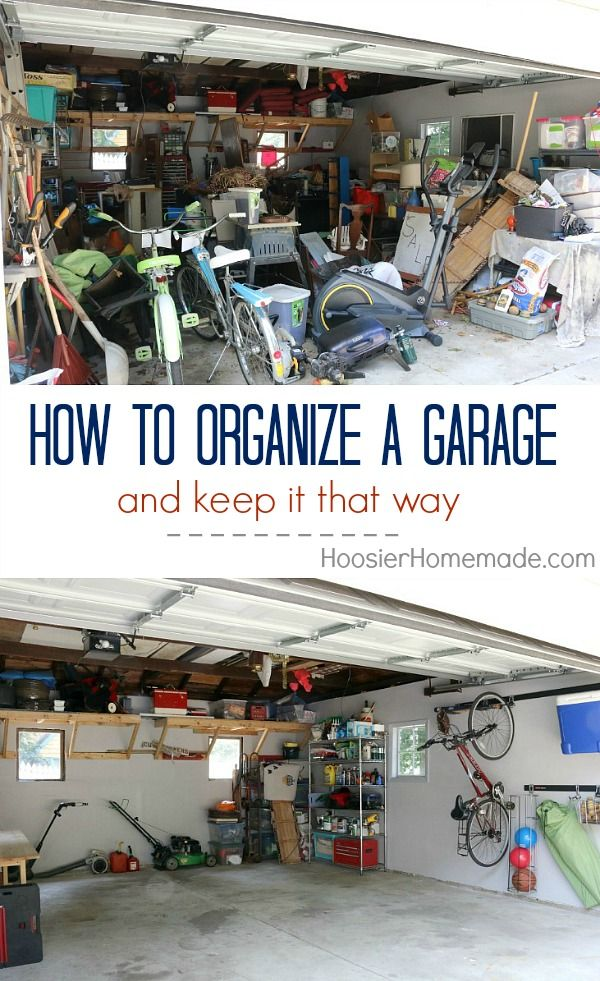 Bikes - Balls - Chairs - Coolers - Rakes - Shovels - Ladders - the list goes on and on! Learn How to Organize Tools in your garage once and for all! Click on the Photo to get Organized!