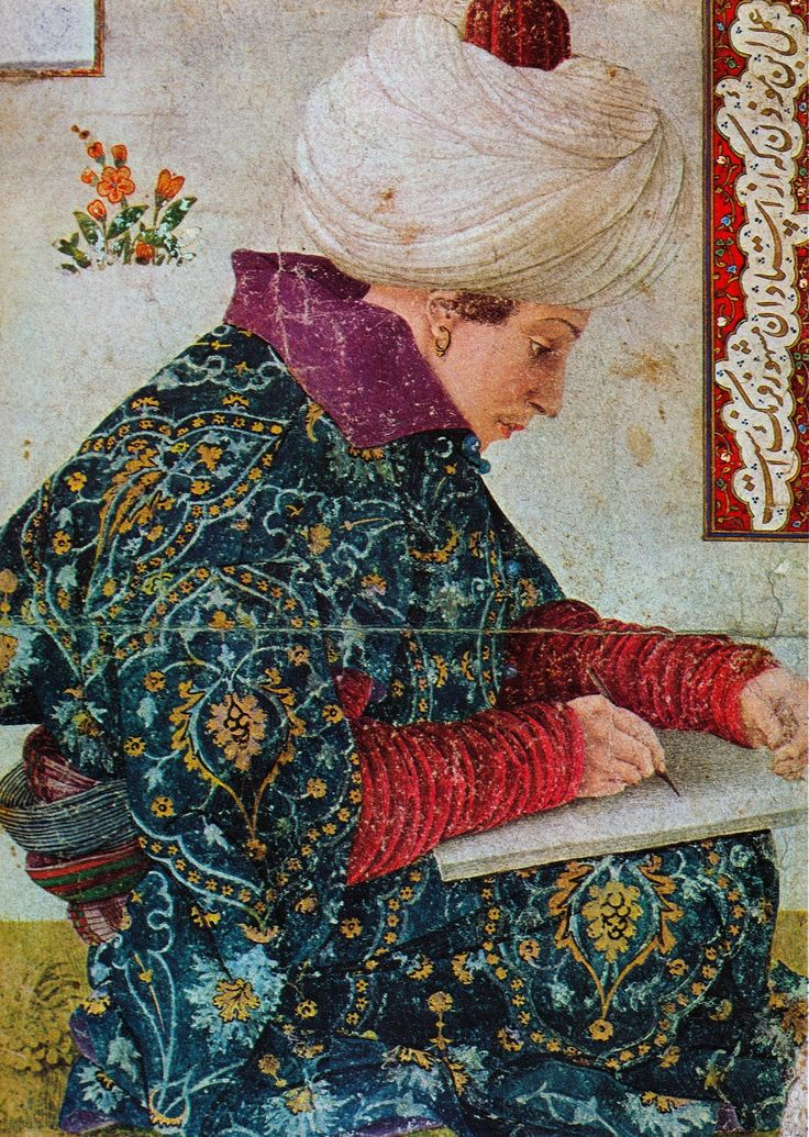 Isabella Stewart Garden Museum. The Seated Scribe was completely indifferent to his audience.  Sitting cross-legged and hunch-backed over his tablet, he displayed his plump face in profile, fully concentrating on what he was going to write.  It was that meteoric moment between thought and execution, and #Bellini had captured it exquisitely and was fully able to convince us.