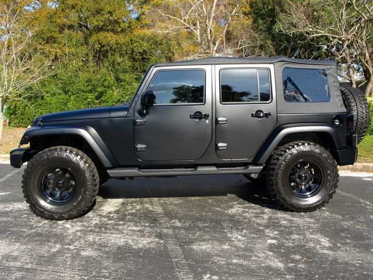 matte black jeep wrangler i want jeep jk pinterest