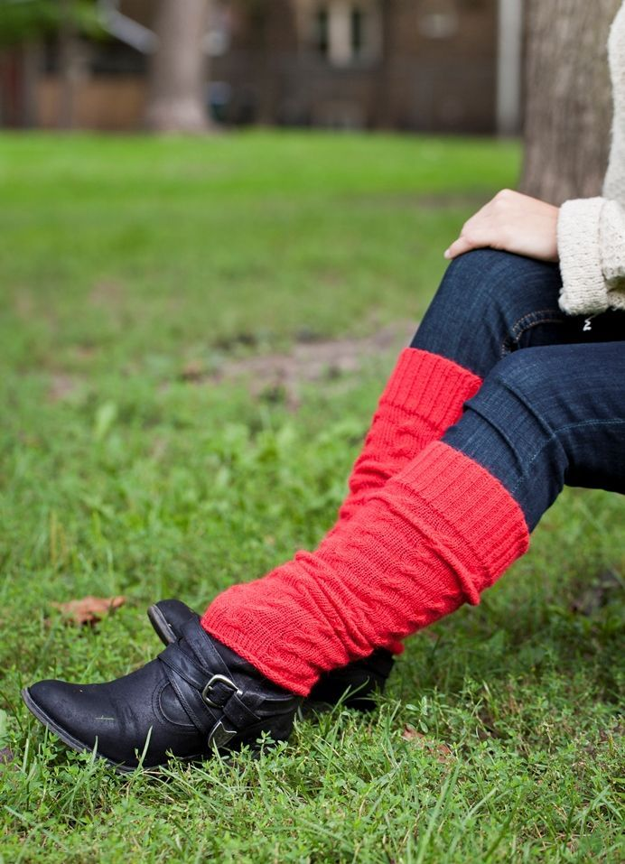 Alpaca Leg Warmers www.knitsandmore.com