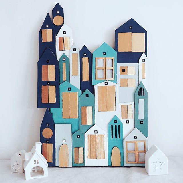 cardboard advent calendar